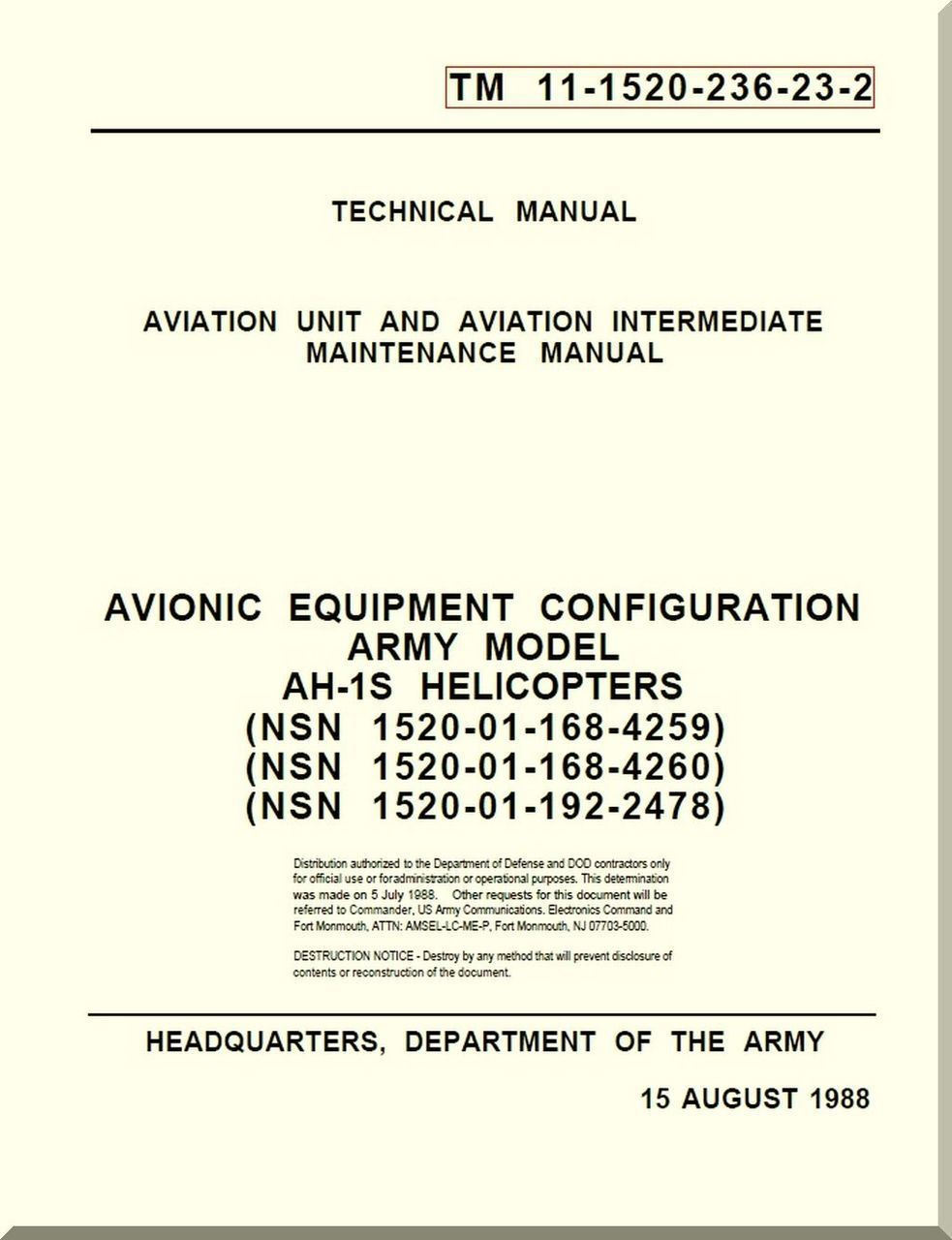 Navair 01 1a 23 manual array bell helicopter ah 1 s aviation unit and intermediate maintenance rh pinterest com fandeluxe Images