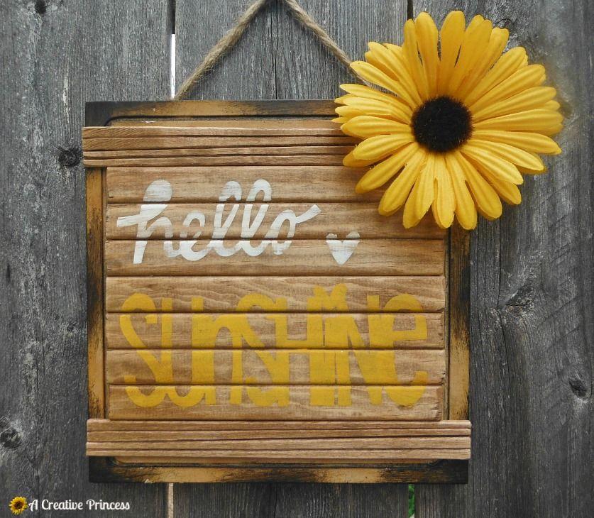A Creative Princess: Hello Sunshine Plaque