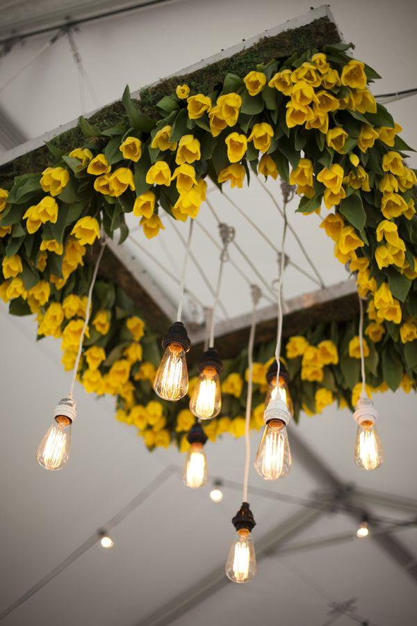 Yellow tulip chandeliers with lights yellow tulips chandeliers yellow tulip chandeliers with lights aloadofball Choice Image