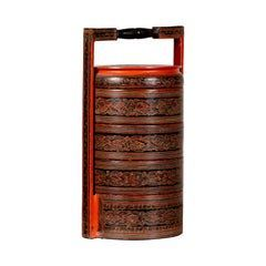 Burmese Pagan Dynasty Style Stacking Picnic Basket with Underglaze Decor    It is possible to make small room designs that are seen as difficult but appeal to the eye with rational solutions. Decorating narrow and small spaces outside, especially large rooms, can become quite enjoyable with some practical approaches. With Modern style solutions, you can change the design of small rooms and open large spaces. T... #accents #Basket #Burmese #Handle #Lacquered #Picnic #Small #Stacking #Vintage