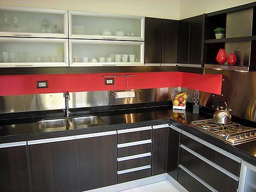 Cocina Roja Y Blanca Muebles De Cocina Modernos Mobiliario De Cocina Muebles De Cocina
