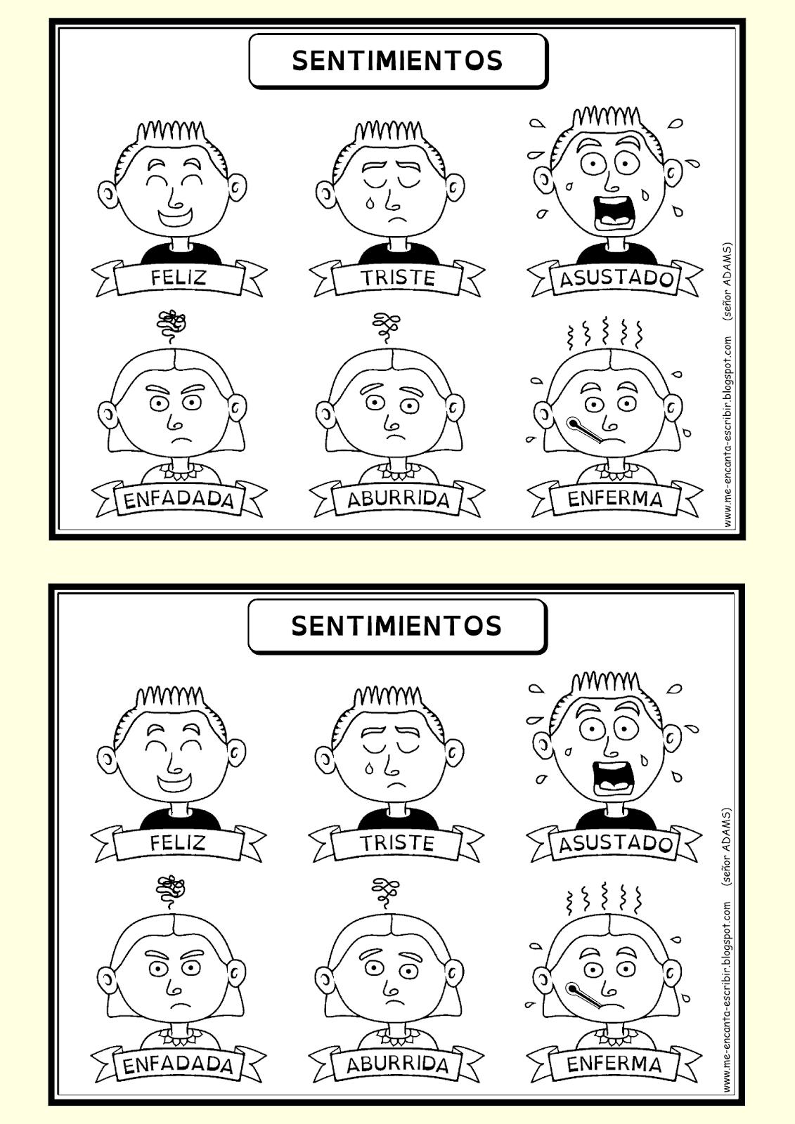 Worksheet Preschool Emociones Spanish