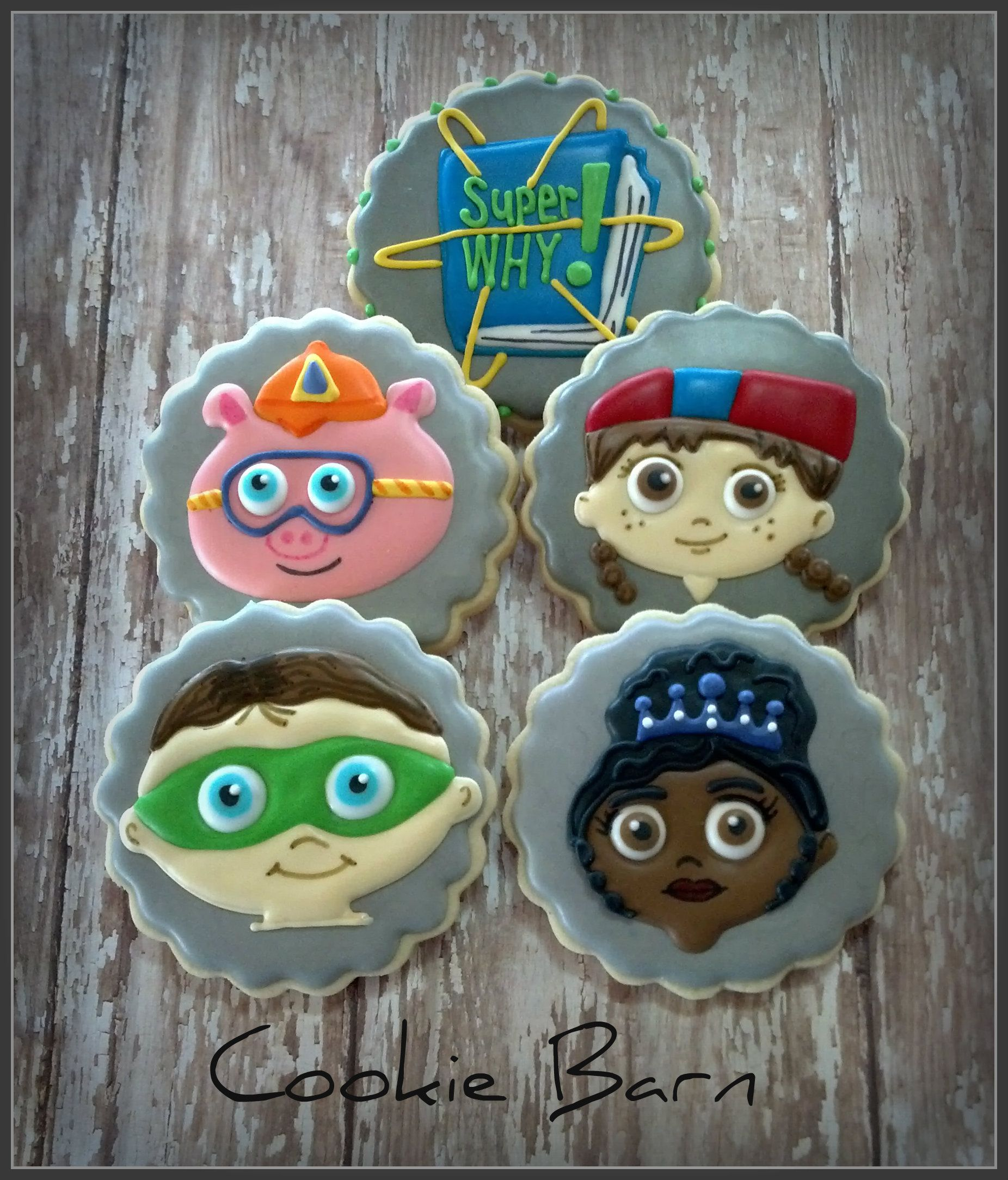Super Why Decorated Cookies