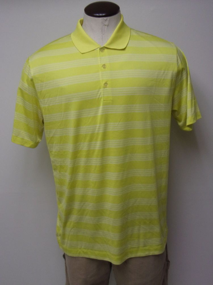 6572e1a46 Men s Nike Golf DRI-FIT sz Large Yellow   White Striped SS Polo Shirt FREE  SHIP  fashion  clothing  shoes  accessories  mensclothing  shirts (ebay  link)
