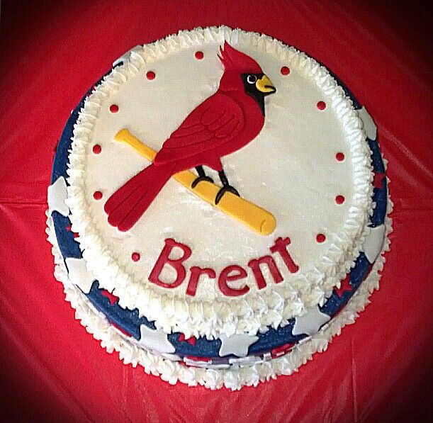 St Louis Cardinals Birthday Cake Cakes I Made Myself