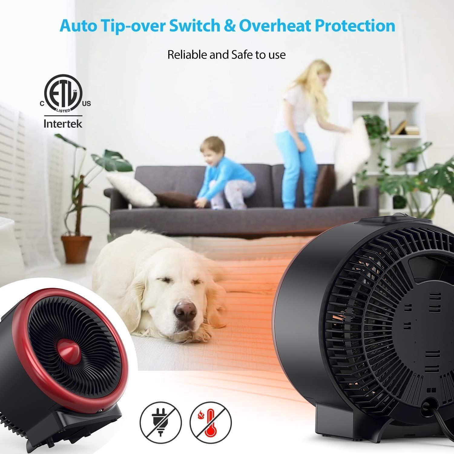Pelonis Psh700r Portable Quiet Cooling Space Vortex Heater 2 In 1