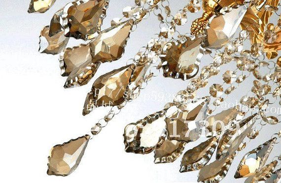 BULK Champagne French Chandelier Prisms Crystal Baroque French - Glass chandelier crystals bulk