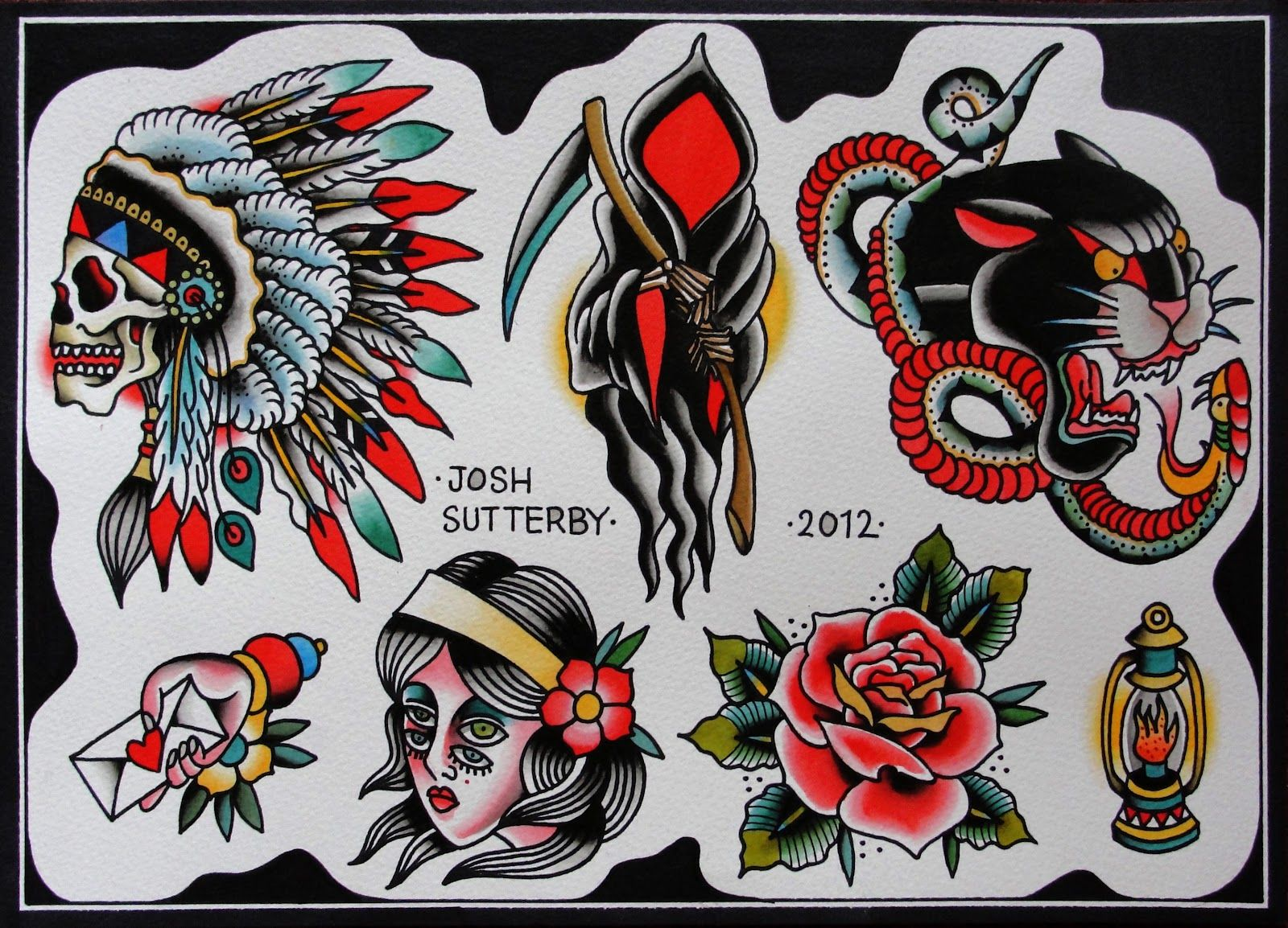 No 1 Dork Flash Book Traditional Tattoo Colours American Traditional Tattoo Traditional Tattoo Design