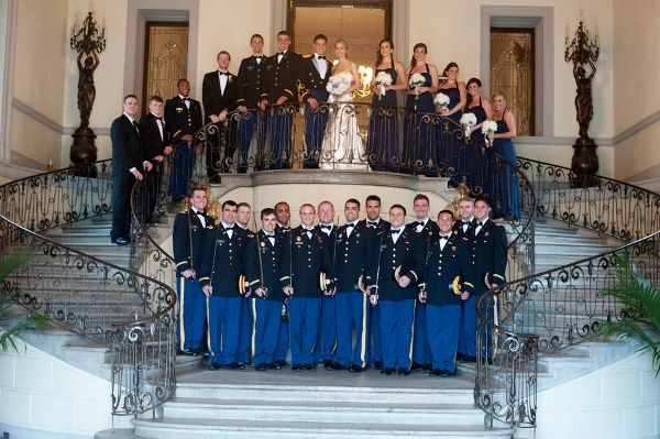 Perfect Military Wedding Army | ... Wedding Bridal Party Striking Blue And White  New York