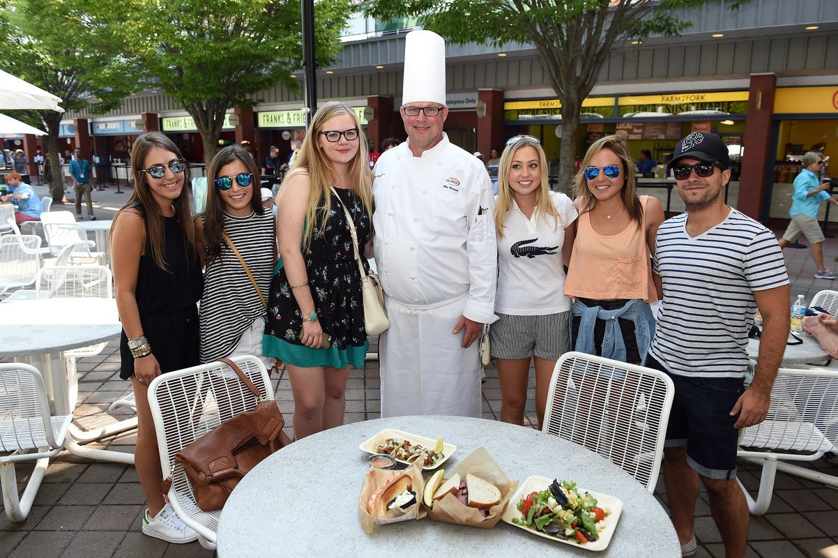 Chef Ron Krivosik From Levy Restaurants Meets With Guests During The 2017 Us Open Flavoroftheopen