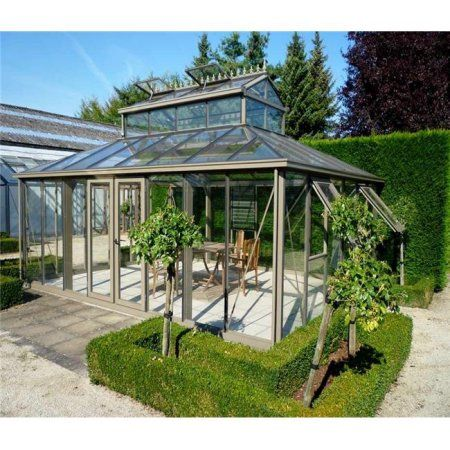 Exaco Cathedral 300 sq ft. Victorian Greenhouse with Large Cupola ...