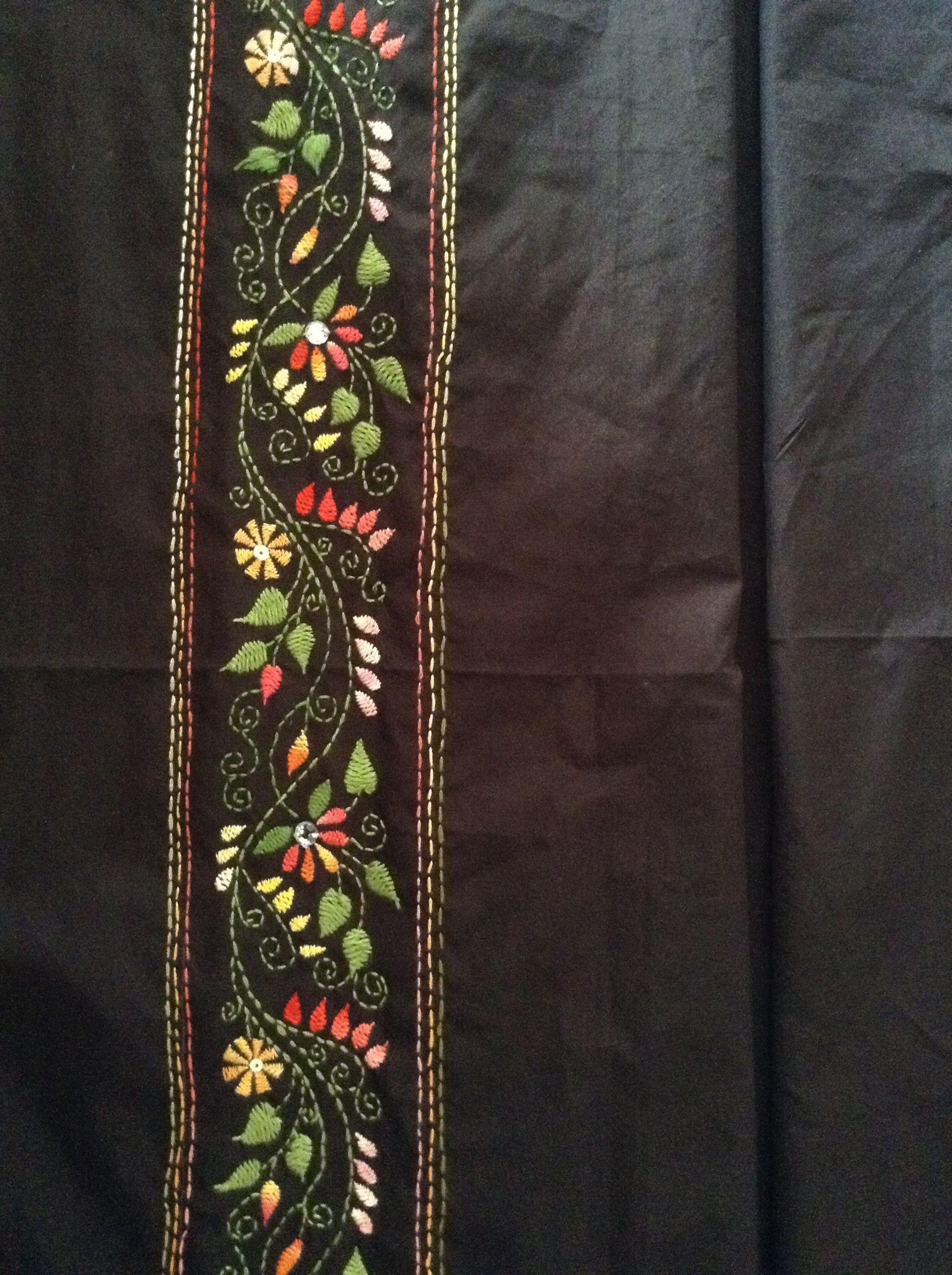 Kantha work border design embroidery designs hand indian also pinterest rh in