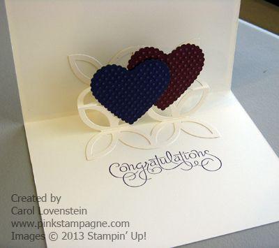 Pop Up Wedding Card Pinkstampagne Engagement Cards Wedding Congratulations Card Wedding Card Diy Pop up wedding cards