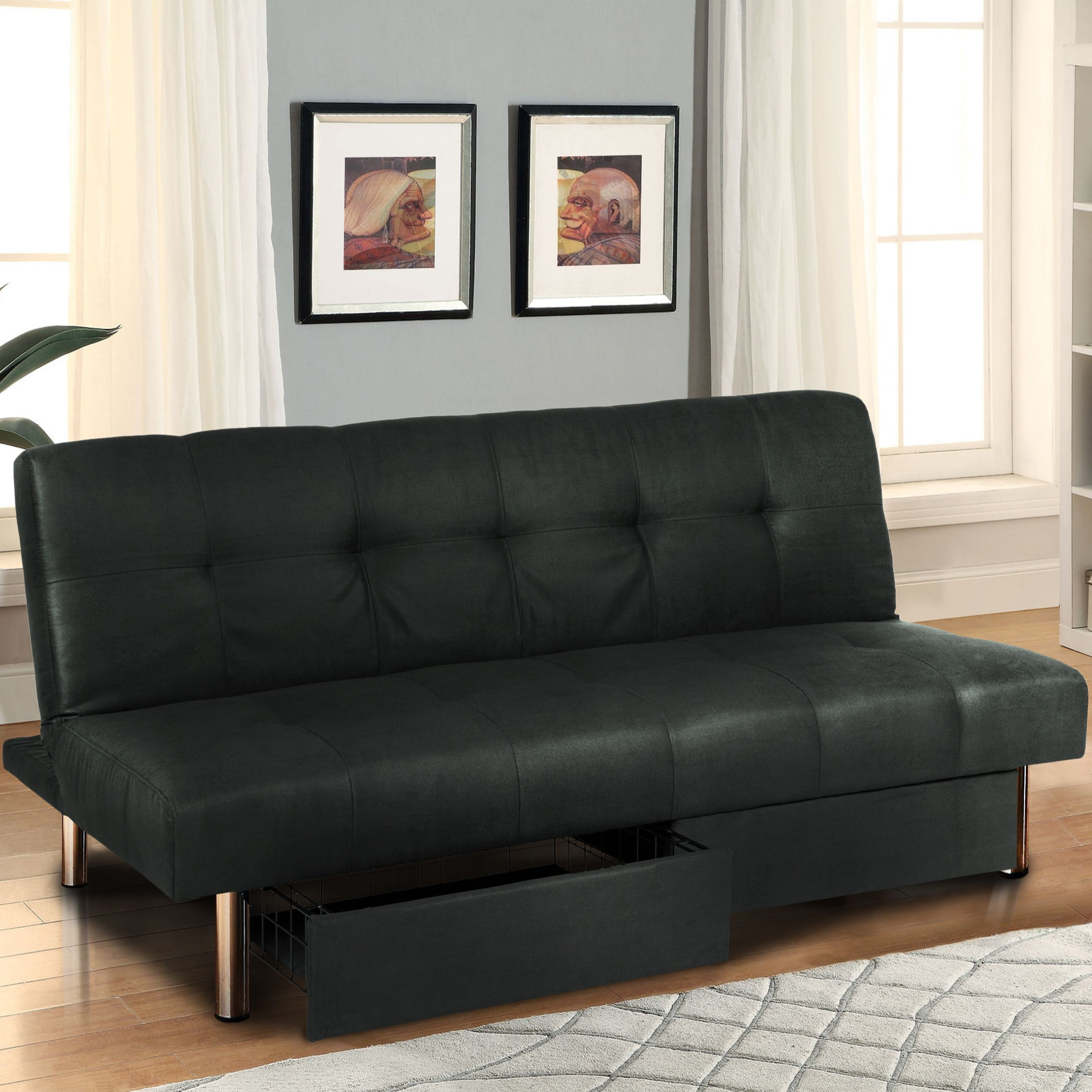 best choice products microfiber futon folding sofa bed couch w  mattress  u0026 storage sleep recliner lounger find and  pare more furniture deals at http   extrabigfoot        rh   pinterest