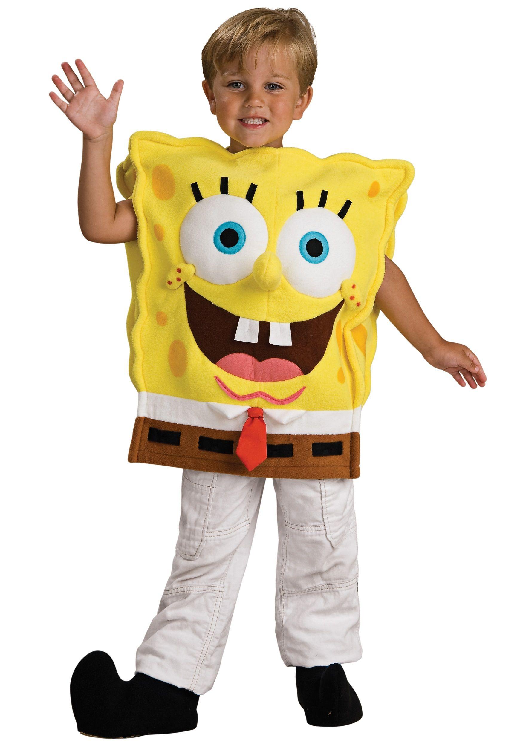 SpongeBob Squarepants Nick Jr Fancy Dress Halloween Toddler Child Costume
