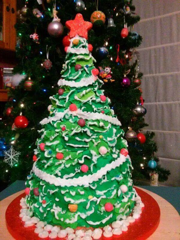 Pastel árbol de navidad