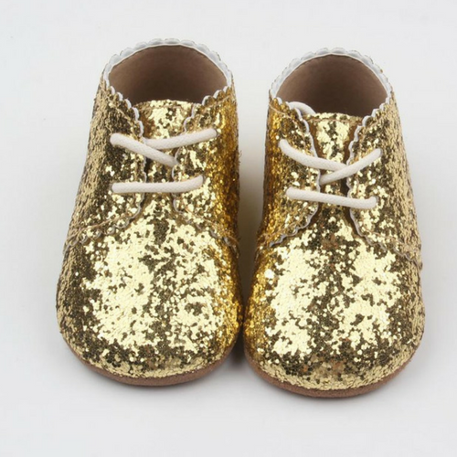 Hubble and Duke Baby Belle Oxford in Gold Glitter-Hubble ...