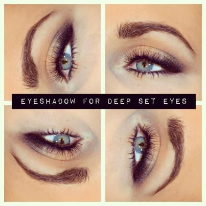 Deep Set Eye Makeup Tutorial | Deep set eyes makeup | Pinterest ...