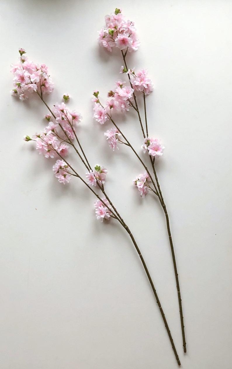Cherry Tree Artificial Blooming Sakura Flowers Cherry Blossoms Pink Flowers Artificial Flowers Faux Flowers 83 Cm Spring Flowers Sakura Flower Pink Flowers Bloom