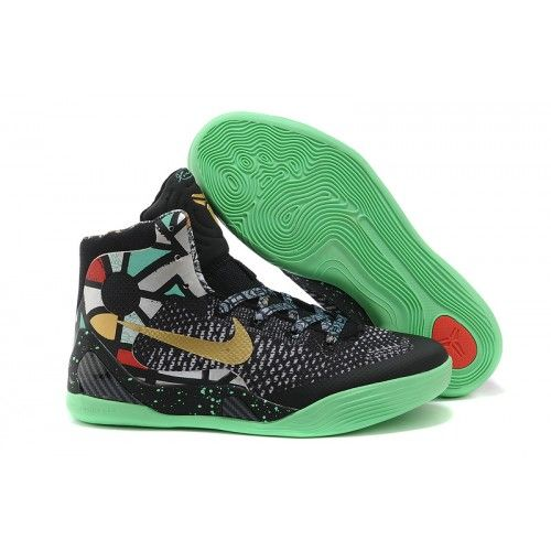 Kobe 9 Black Gold Green Red Basketball Shoes Stores  Kobe Bryant Shoes   Pinterest  Kobe Kobe bryant shoes and Black gold