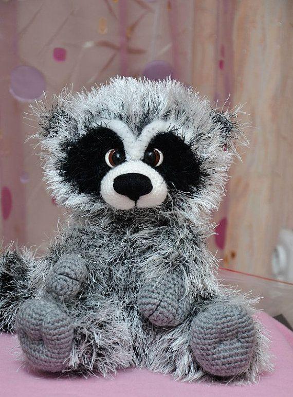 Crochet Pattern Raccoon Ideen Pinterest Waschbär Häkeln Und