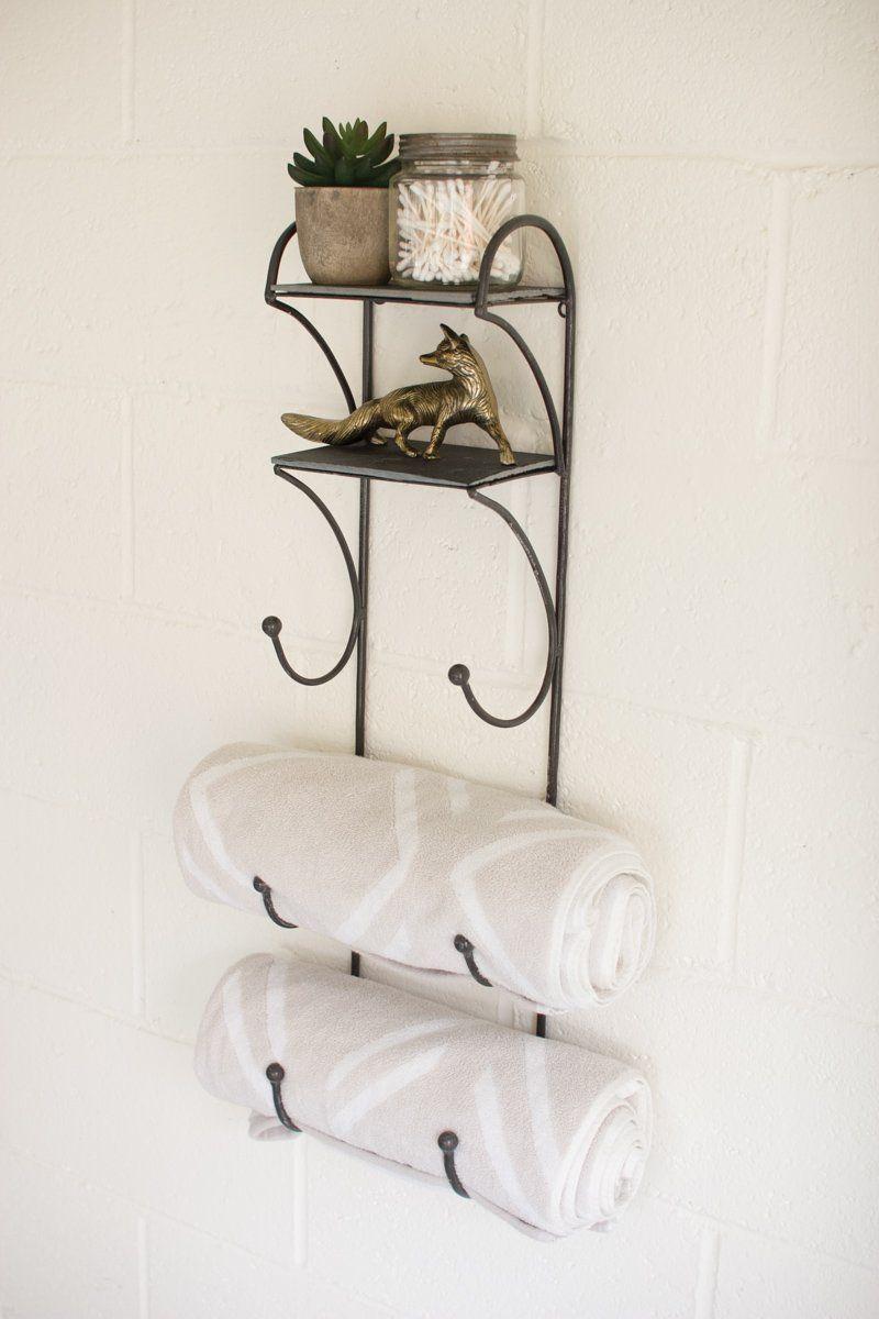 Iron Com Towel Wine Rack