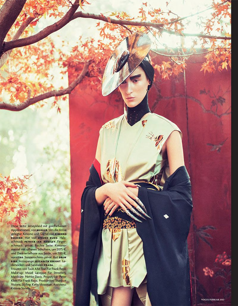 Franzi Mueller is Geisha Glam for Vogue Germany February 2013 by Sebastian Kim | Fashion Gone Rogue: The Latest in Editorials and Campaigns