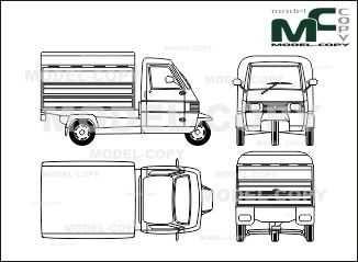 Piaggio Ape Tm Box Car Disegno 27989 Piaggio Model Copy