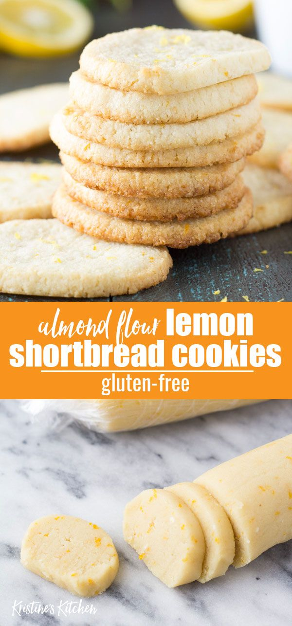 Lemon Almond Flour Shortbread Cookies (Gluten Free)