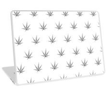 Laptop Skin - This pot leaf pattern, marijuana design is clean looking and understated, but still lets your appreciation for cannabis show.