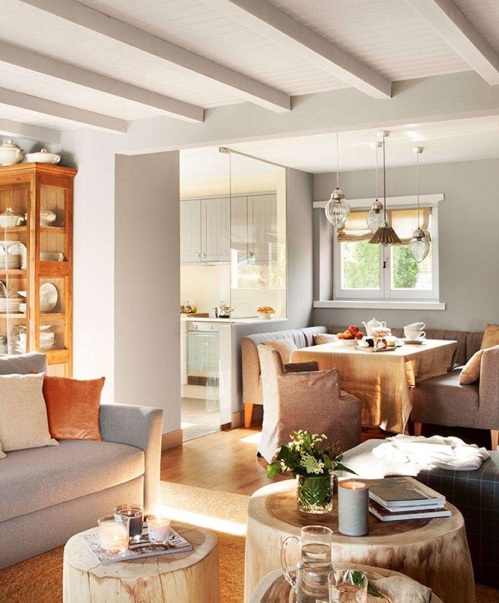 Planta abierta con salón, comedor y cocina conectados 412893 ...