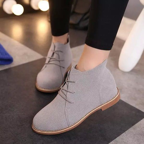 Trendy chukka style boots for a casual look  Comfortable breathable upper  Made from PU  Available in leather or suede is part of Dress shoes womens -