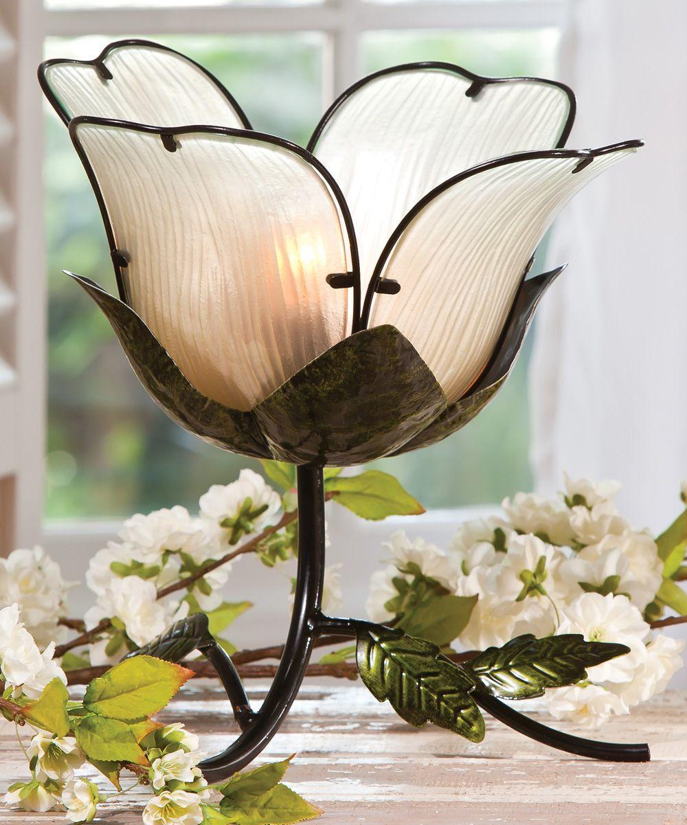 White Flower Lamp Casa Pinterest Flower Lights And Lamp Light