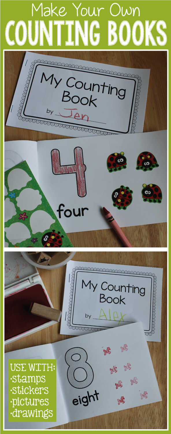 Counting Books 1-10 | Make Your Own Number Book for Preschool and ...
