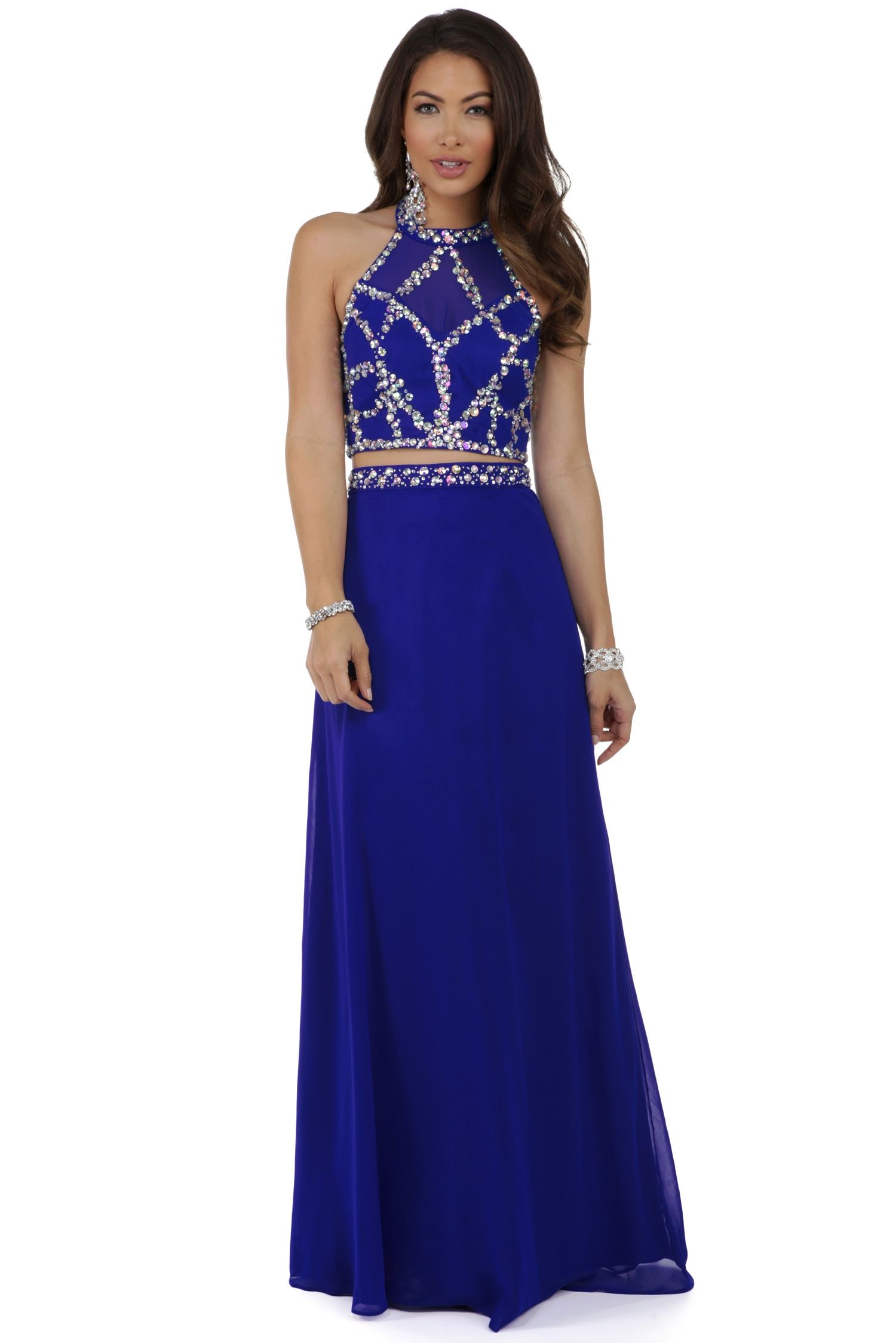 Sabina Royal Two Piece Prom Dress | Prom | Pinterest