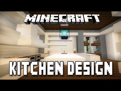 Minecraft tutorial modern kitchen design how to build a for Kitchen ideas for minecraft
