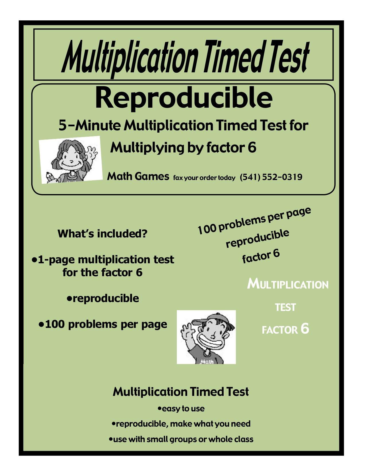 Multiplication 5 Minute Timed Test