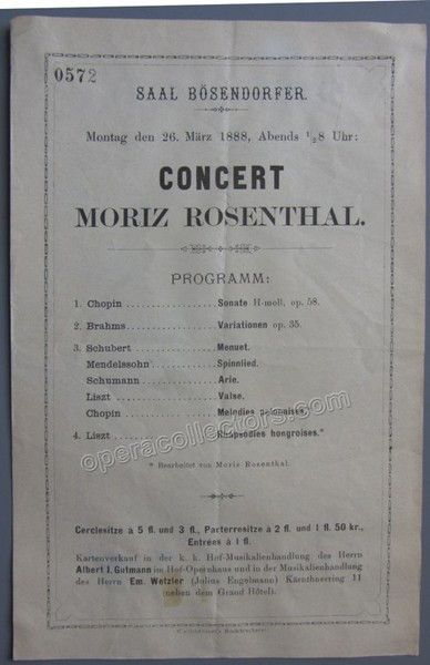 Moriz  Concert Program Vienna