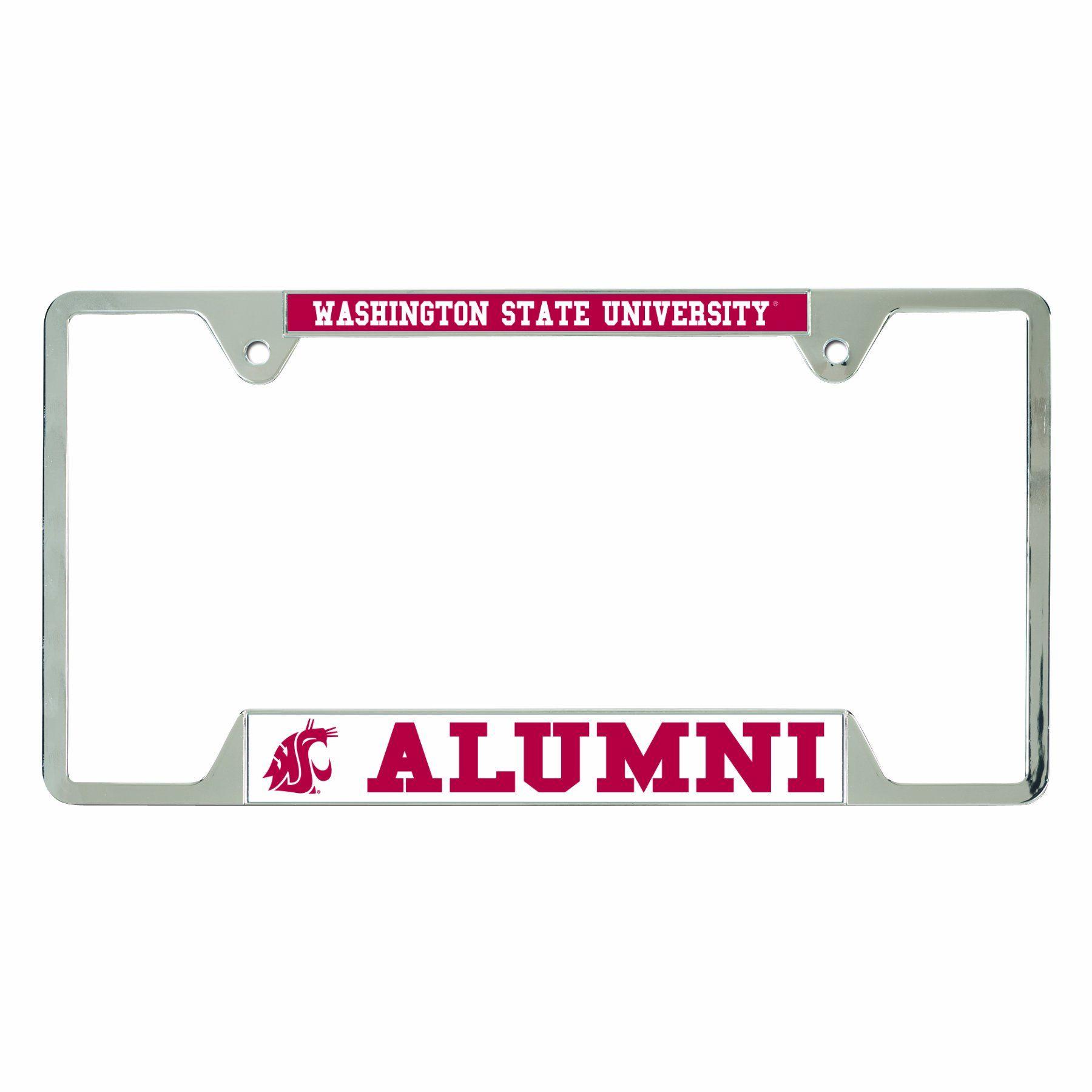 WSU Alumni License Plate Frame | Wish List | Pinterest | Plates and ...