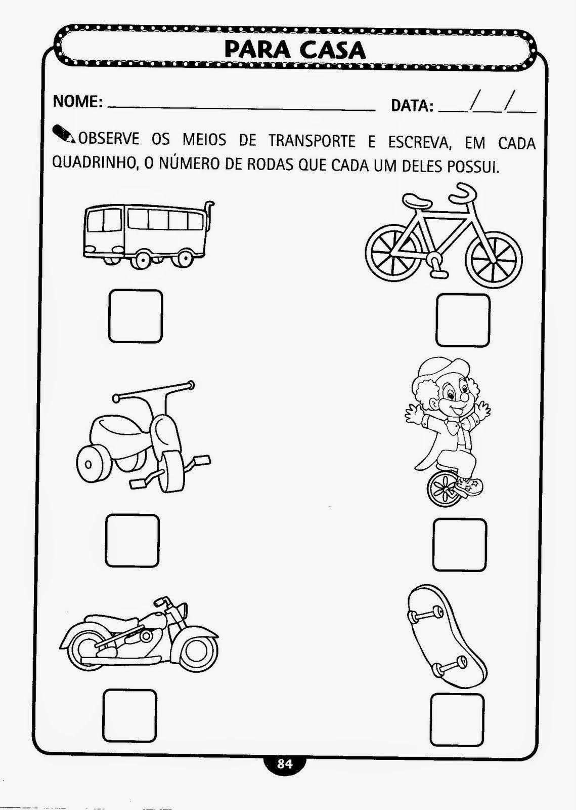50 Atividades Com Meios De Transporte Para Imprimir Em 2020 Com
