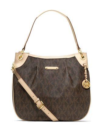 Michael Kors Jet Set Item Large Signature Shoulder Bag All Handbags Accessories Mac