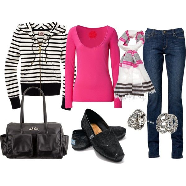 """""""black and pink"""" by sandreamarie on Polyvore"""
