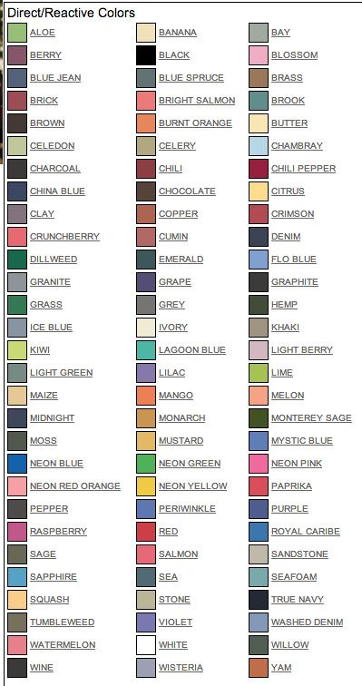 Comfort Color T Shirt Color Chart Google Search Crafts And