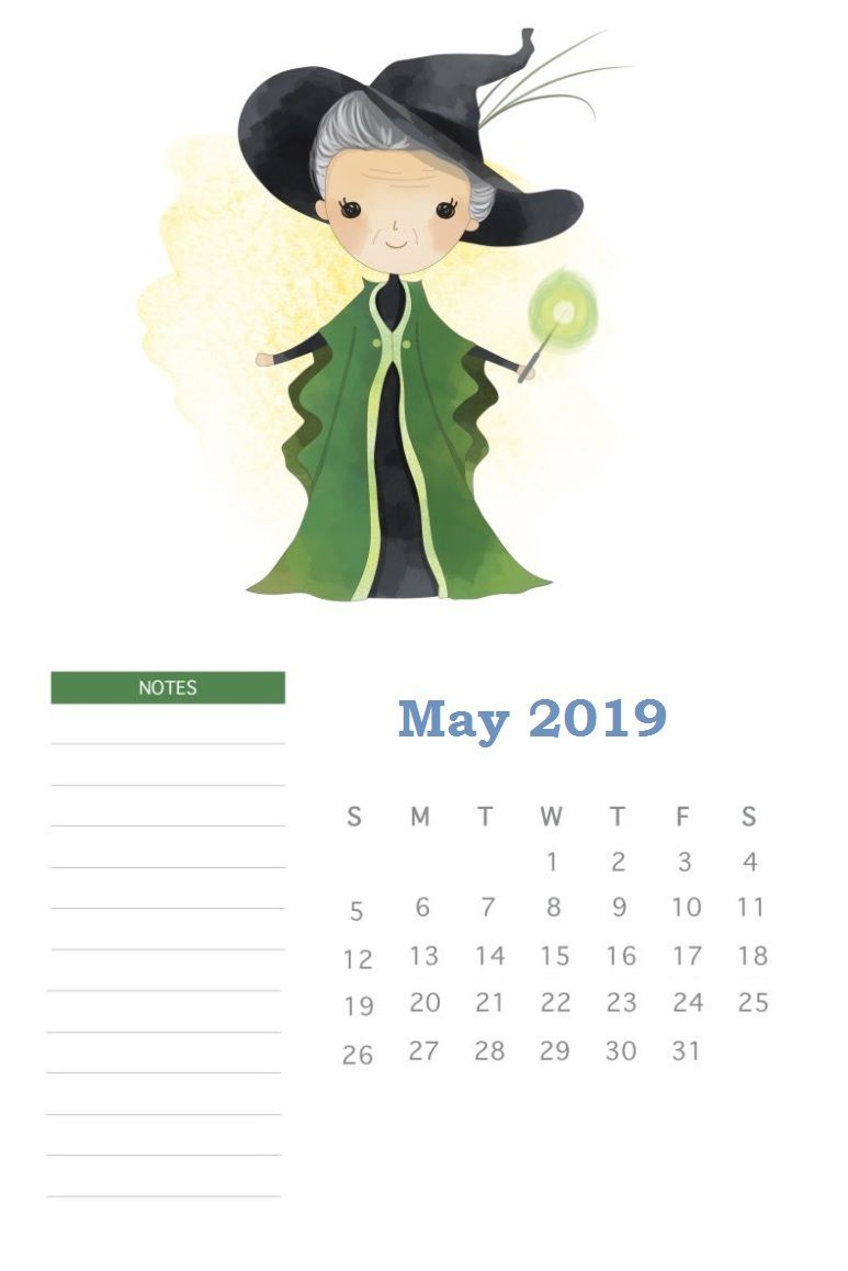 Harry Potter May 2019 Calendar Template Harry Potter Calendar