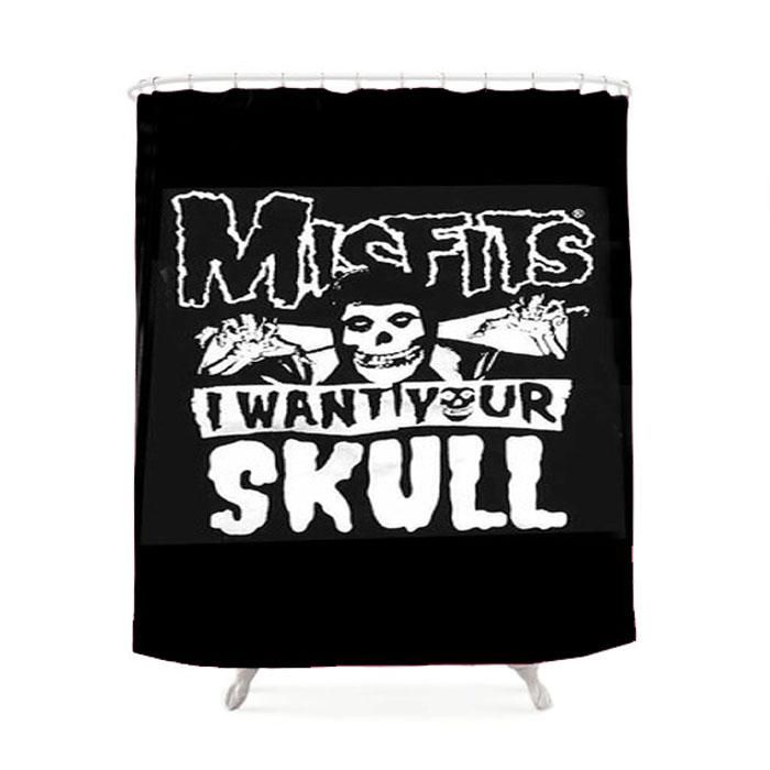 The Misfits Skull Shower Curtain