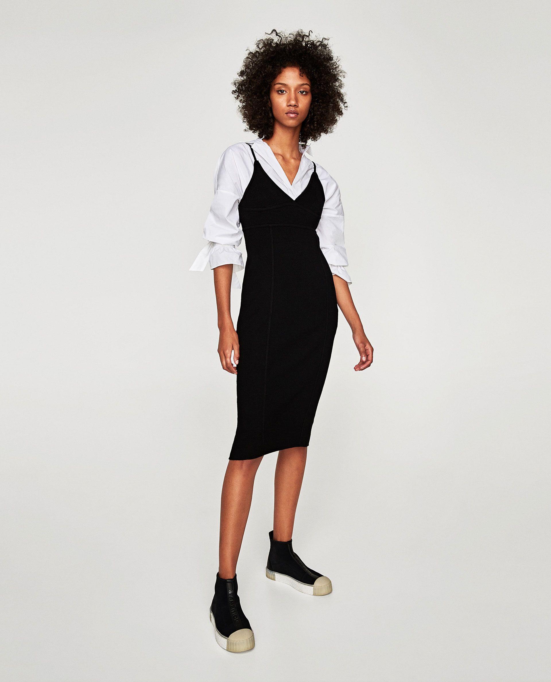 Image 1 of LONG RIBBED DRESS from Zara   Kleider für ...
