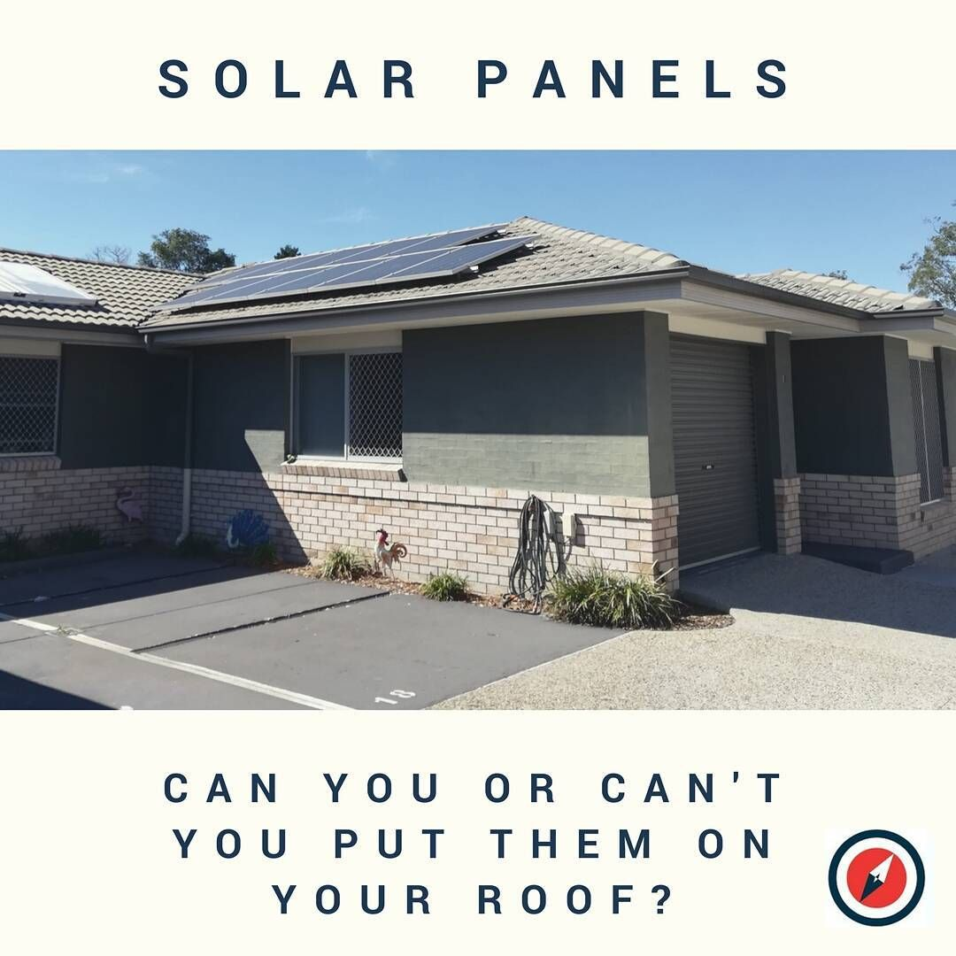 So you plan to put solar on the roof of your townhouse or commercial
