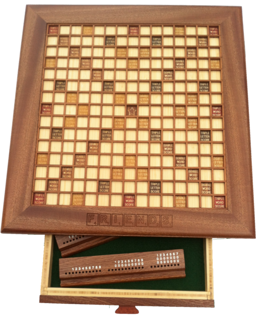 Elegant Custom Wooden Scrabble Board, Made In Your Choice Of Wood, Shape, And Size