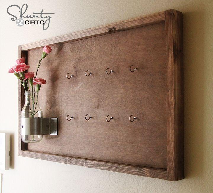 0496c989d6f8 Idées DIY   faire soi-même des portes clés muraux originaux   Idées ...