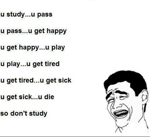DO NOT STUDY!!!!!!!!!!!!!! | Funny quotes | Funny study ...